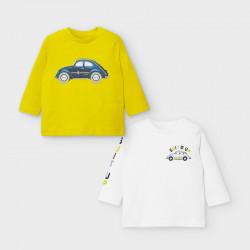 Set 2 koszulki d/r autka Aove