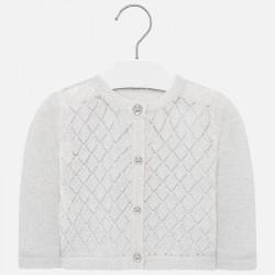Sweter rozp. dzianina Srebny