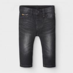 Spodnie soft denim Czarny