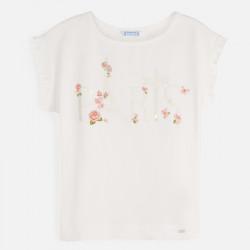 Koszulka k/r kwiatki Crd-nude