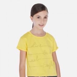 Koszulka k/r crop Żółty