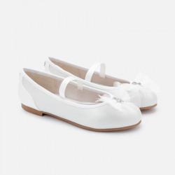 Balerinki tiul Biały