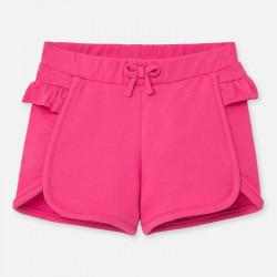 Spodnie krótkie falbanka...