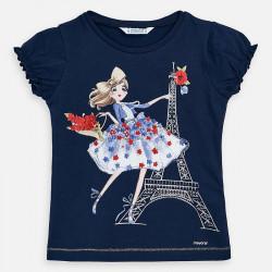 Koszulka k/r lalka Granatowy