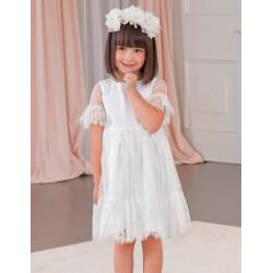 Sukienka koronki Biały