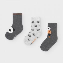 Set 3 skarpetki panda Cement