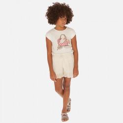 Spódnico-spodnie plisy Szampan