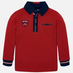 Koszulka polo d/r Czerwony