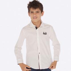 Koszula d/r kontrast Biały