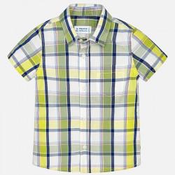 Koszula k/r krata limonka