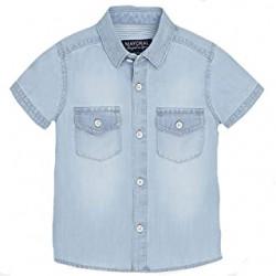 Koszula k/r jeans bleached