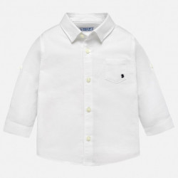 Koszula d/r len basic biały