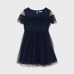 Sukienka tiul Granatowy