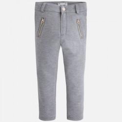 Jeginsy jeansy dzianina stal
