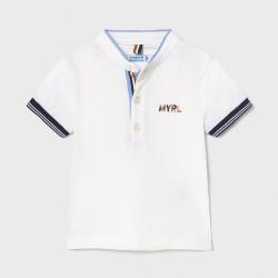 Koszulka polo k/r ze stójką...