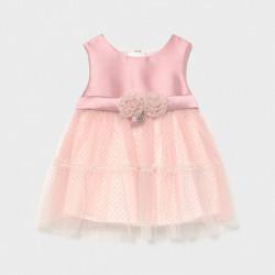 Sukienka łączona tiul Różowy