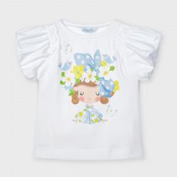 Koszulka k/r lalka Biało-nieb