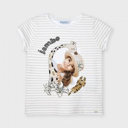 Koszulka k/r dziewcz. paski...