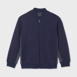 Bluza pique pasy Morski