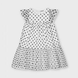 Sukienka tiul groszki Czarny