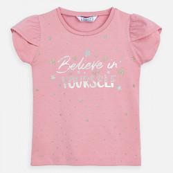 Koszulka k/r gwiazdy Różowy