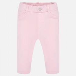 Spodnie dzianina basic Różowy
