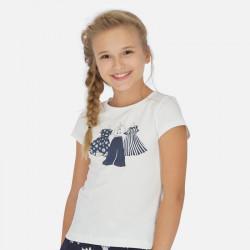 Koszulka k/r Krem-grana