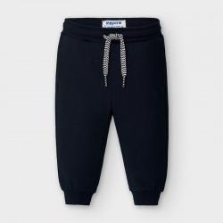 Długie spodnie basic Granatowy